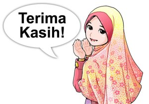 kartun-muslimah-perempuan-terima-kasih